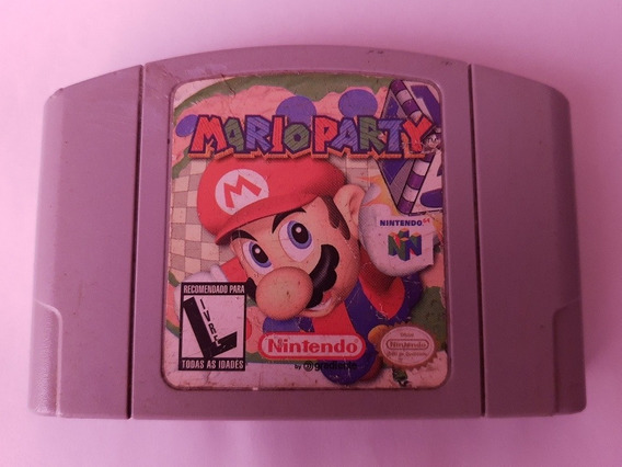 N-64: Mario Party Original Americano!! Raríssimo!! Jogaço!!