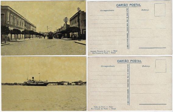 Rn ± 1930 Cartão Postal Foto Porto Av. Tavares Lyra Natal