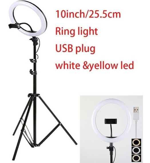Iluminador Ring Light Anel Luz 26cm Foto 10