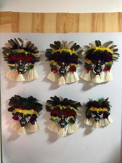 Mascara Indígena Para Enfeite Atrai Boas Energias.