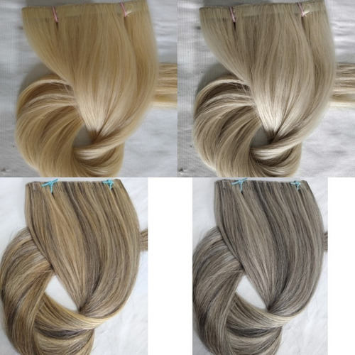 Imagem 1 de 1 de Cabelo Humano Loiro Claro Fita Adesiva 30g 40cm Mega Hair