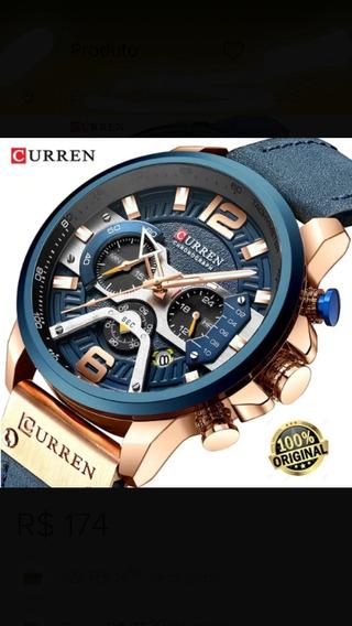 Relógio Top Original Funcional Lançamento Curren