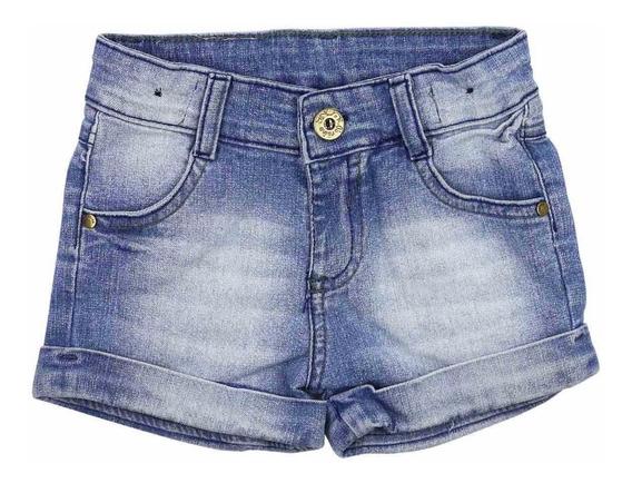 Kit 8 Short Infantil Jeans Rasgadinhos Meninas Feminino