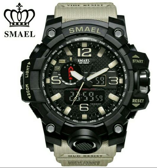 Relógio Smael Led Digital Grande Militar Exército