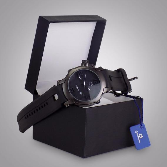 Relógio Masculino Spaceman Preto Exclusivo Especial + Caixa