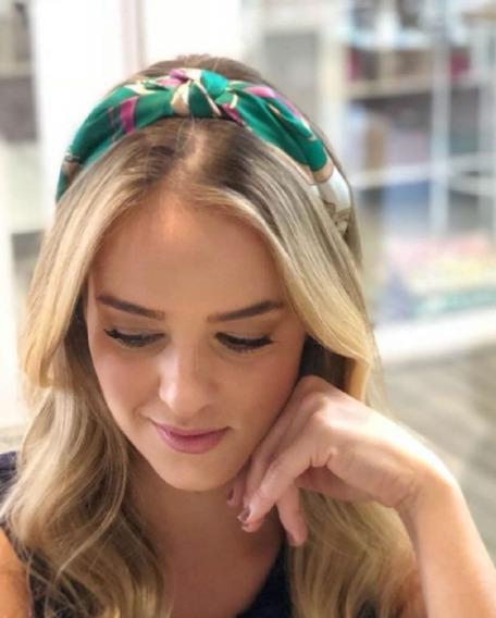 Headband/ Tiara De Lenço Com Nó
