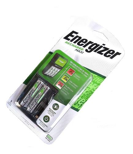 Cargador Energizer Maxi Aa Aaa + 2 Pilas Recargables Aa