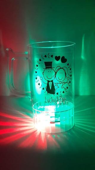Vaso Cervecero Personalizado Con Luz Led 3 Colores