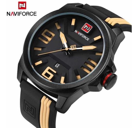 Relógio Naviforce 9098 Militar Analógico Original Promoção