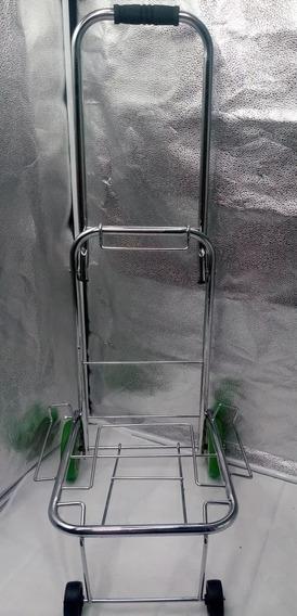 Carrinho De Mão Dobrável Em Alumínio Carga 70 Kg + Brinde