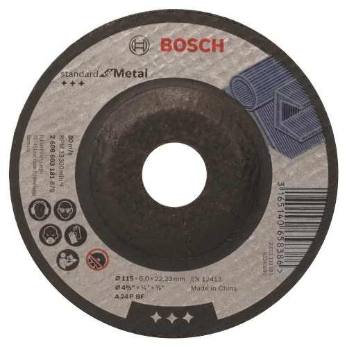 Disco Abrasivo Desbaste Std Metal Cto Dep 4-1/2 X1/4 Bosch