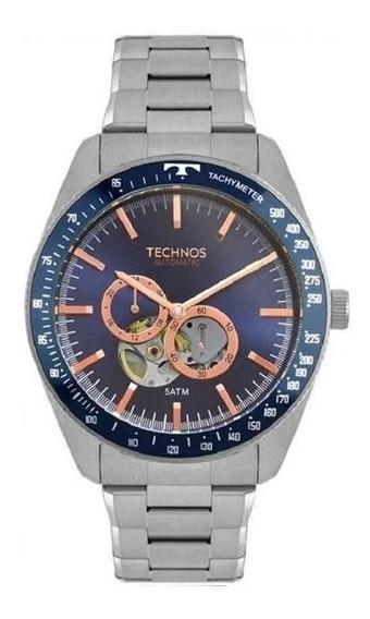 Relógio Technos Masculino Automático Prata 82s7aa/1a