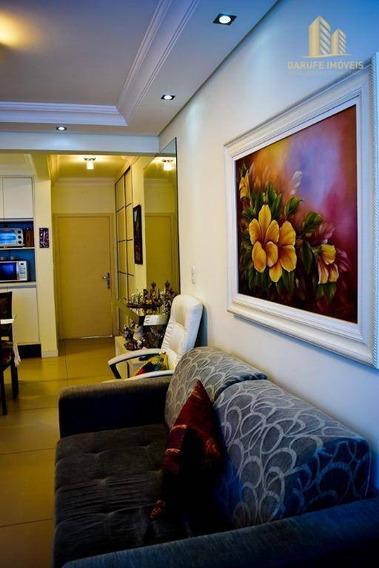 Aceita Permuta Apartamento Em Ótima Localização 01 Dorm, Mobiliado E Decorado, Em Andar Alto. - Ap1183