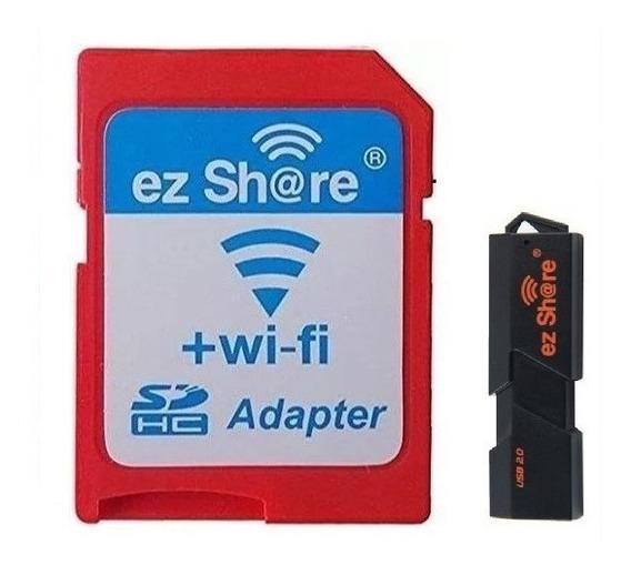 Promoção Adaptador Sd Wifi Ez Share + Leitor De Cartão Usb