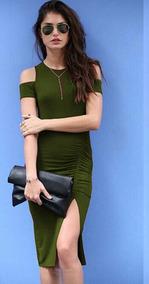 Vestido Midi Top Com Fenda Fashion Courage.by