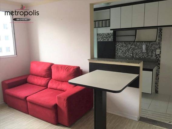 Apartamento À Venda, 48 M² Por R$ 210.000,00 - Parque São Vicente - Mauá/sp - Ap0828