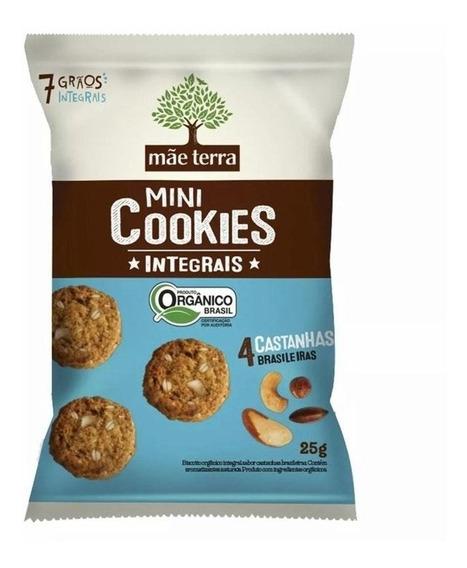 Mini Cookies 4 Castanhas Brasileiras 25g - Mãe Terra