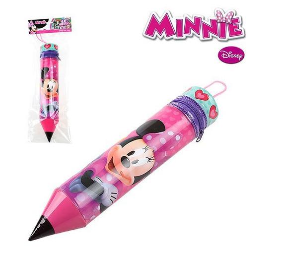 Estojo Escolar Formato Lápis Minnie 26cm