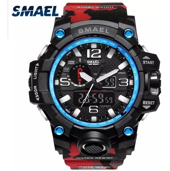 Relógio Militar Original Smael Sport Digital Camuflado !!