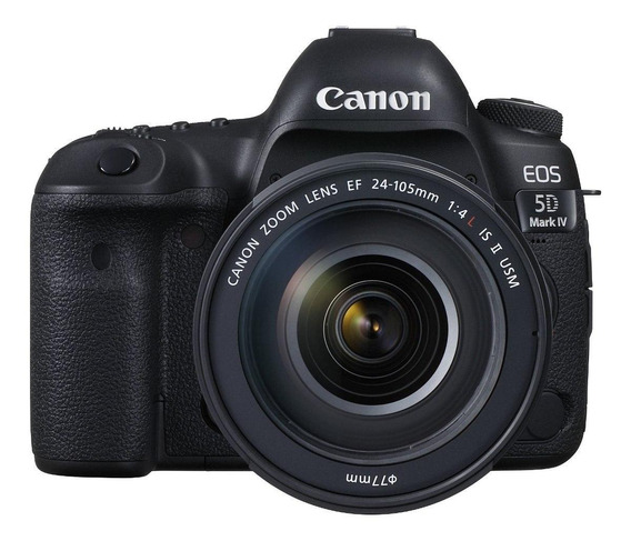 Canon EOS 5D Mark IV 24-105mm IS II USM Kit DSLR preta