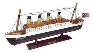 Barco Titanic Barcos Antiguos 35x16x5cm Titanic Madera