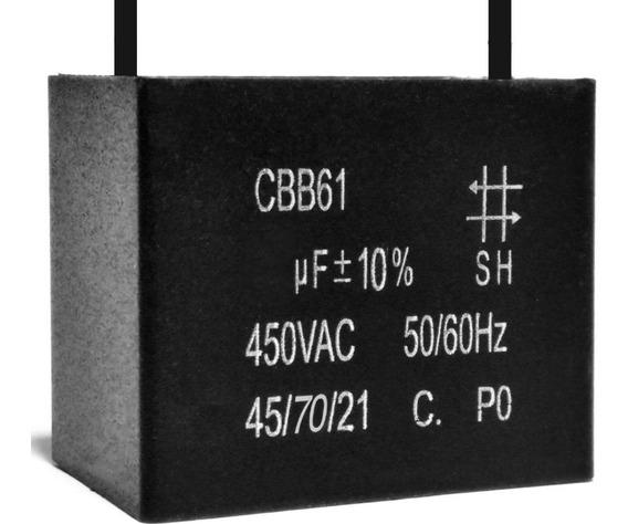5 Unids Capacitor Partida 6uf X 450vac Fio Cbb61 40/70/21