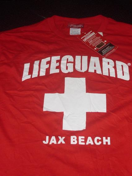 Espectacular!! Remera M/l Orig. Lifeguard - Jax Beach Red M