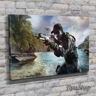 Cuadros Lienzo 90x60 Videojuego Call Of Duty Black Ops Iii