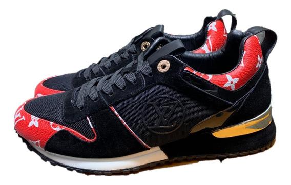 Tenis Sneakers Louis Vuitton Monogram Red, Envío Gratis