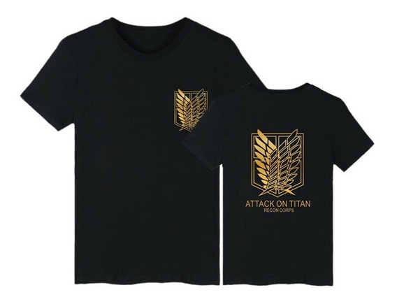 Attack On Titan Remera Shingeki No Kyojin Unisex Dorado Levi