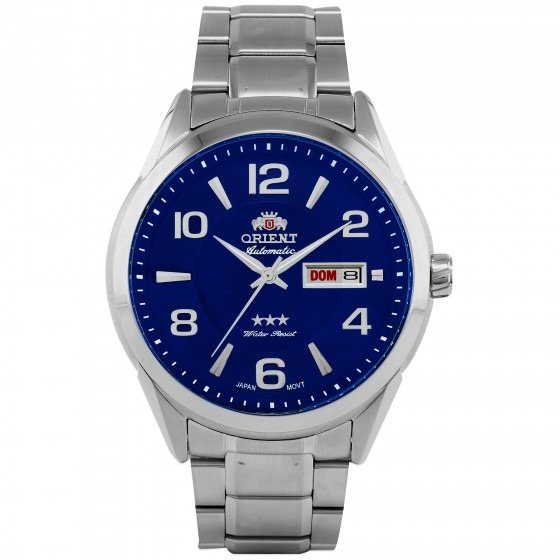 Relógio Orient 469ss052 D2sx Automatic Azul Masc - Refinado