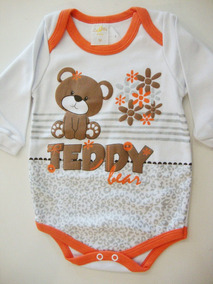 40873f37e5 Body Ursinho Teddy - Roupas de Bebê no Mercado Livre Brasil