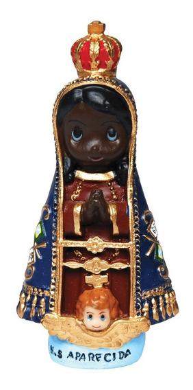 20 Imagem Nossa Senhora Aparecida Infantil Em Resina 13cm