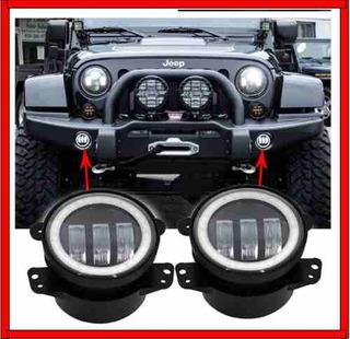 Par De Faros Led Para Niebla Neblina Jeep Wrangler 30w 4 Cre