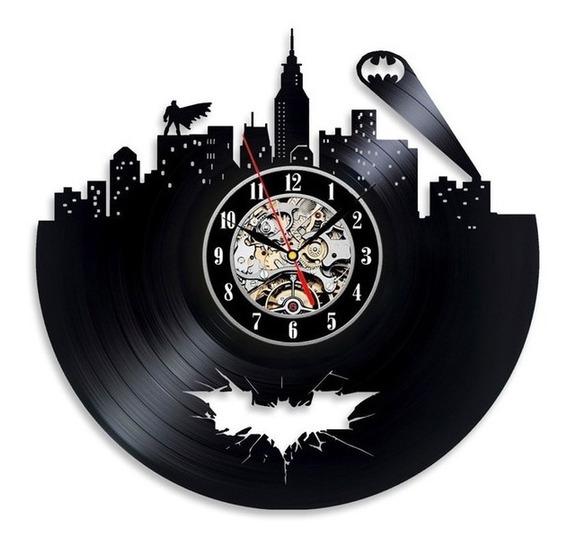 Relógio D Parede, Batman, Heroi, Decoração, Disco Vinil