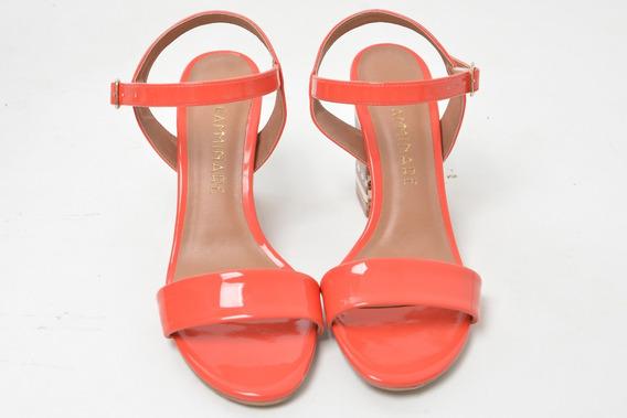 Sandália Camminare Verniz Pequi / Tangerina Ref: 810.4441266
