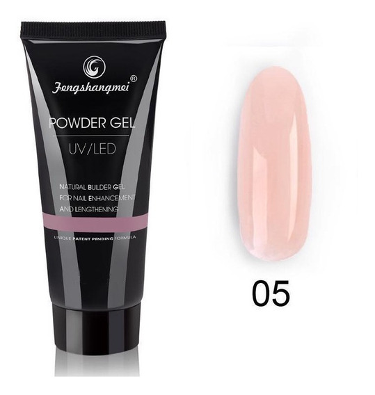 Polygel Powder Gel Uv Led Nude 05 X 50 Ml - Fengshangmei
