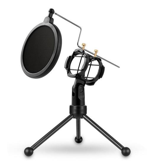 Yanmai Ps -3 Mini Microfone Portátil Anti Rede Suporte Deskt