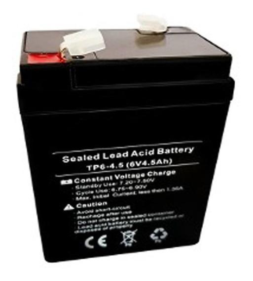 Batería Recargable 6 V 4.5 Ah Lampara Emergencia 10 Verdes
