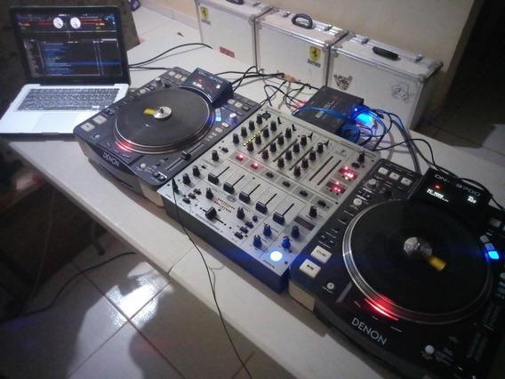 Par Denon Dn-s3700 + Mixer Djx 700 + Serato Sl3