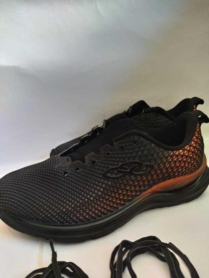 Tênis Olinpikus Fluid716 Para Esportes Preto/laranja.
