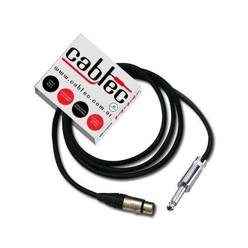 Cable Canon Hembra Xlr A Plug Mono Neutrik Rean 1m Cabtec