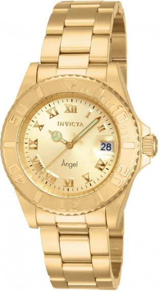 Relógio Invicta 14321 Dourado 18k Aço Angel - Black Friday