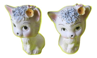 Mini Gatitos Gatitas Porcelana Par Gatos Antiguos 5cm $390a