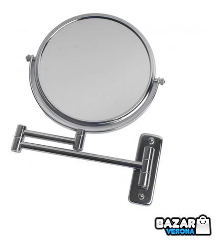 Espejo Maquillaje Barba Con Aumento Extensible Zoom X 5