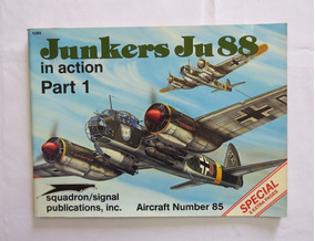 Livro Junkers Ju 88 In Action - Luftwaffe - 2ª Guerra