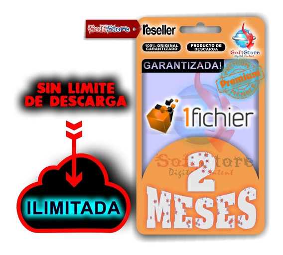 Cuenta Premium 1fichier 2 Meses (ilimitada!)