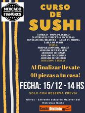 Curso De Sushi Intensivo! Nueva Fecha - Sabado 15-12-14 Hs