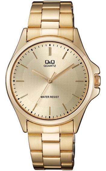 Relógio Q&q By Japan Masculino Analógico Dourado Original Nf
