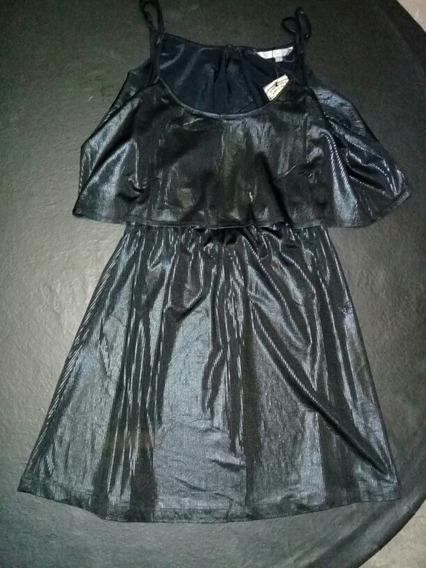 Vestido Fiesta Negro Corto Nre Nuevo Sin Uso